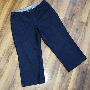 Dockers stretch chambrey capri pants sz 14  NWOT